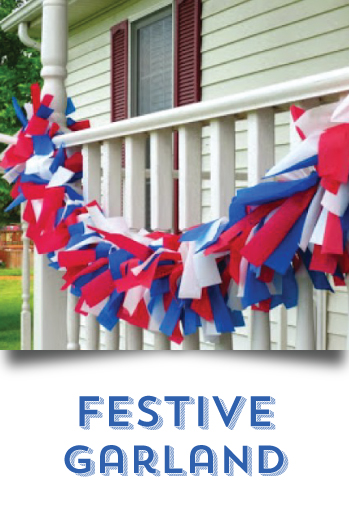 DIY your 4th of July -  Festive Garland
