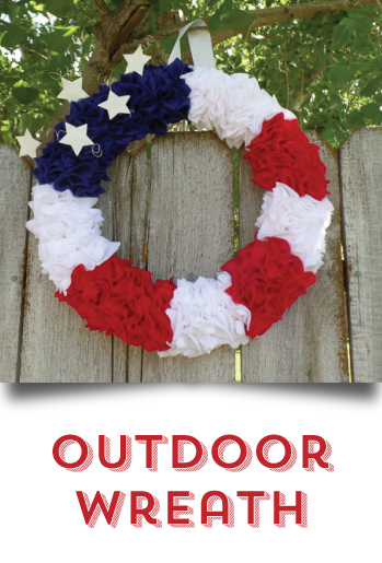 DIY your 4th of July -  Outdoor Wreath