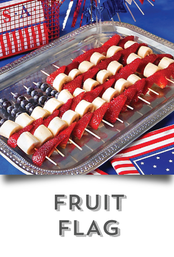 DIY your 4th of July -  Fruit Flag