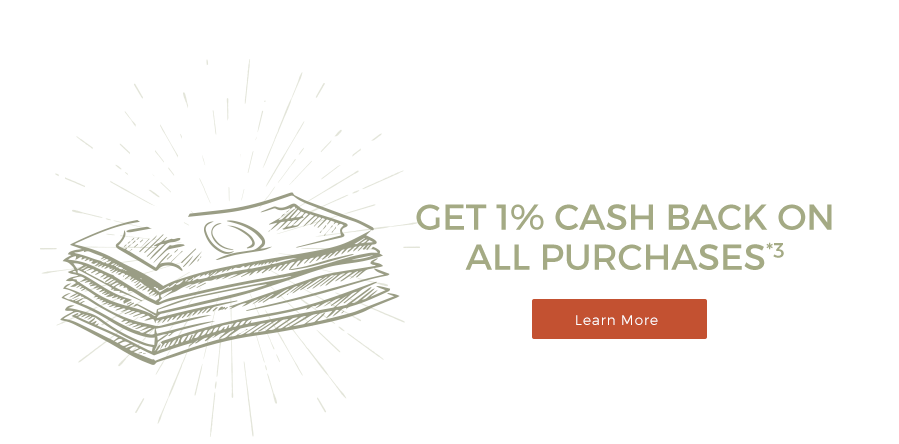 FinancialEdge get 1% cash back on all purchases