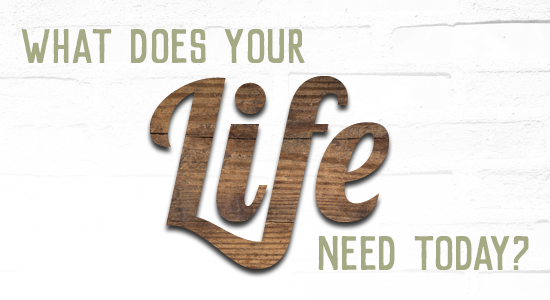 What does your Life need today?